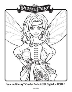 Tinkerbell Coloring Pages 3 Celebrate The And Pirate Fairy Film With A Picture