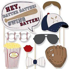 Amazon.com  Batter Up - Baseball Photo Booth Props Kit - 20 Count  8cf4ecb039d