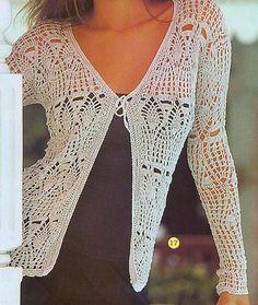 Crochet y Dos agujas: Saquito de verano