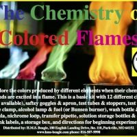 Chemistry of colored flames kit
