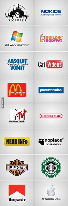 the cool ruler: Si los logos fueran honestos