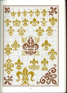 fleur de lis cross stitch point de croix