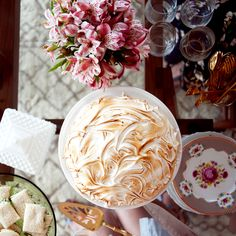 """""""I imagine tea and scones, lots of itty bitty teaspoons, and pink lace embroidery on everything … I also feel like there should be pink and white confetti softly raining down on all these lovely women while they eat their scones."""""""