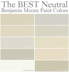 Warm creamy wall colors benjamin moore best neutral for Neutral cream paint color