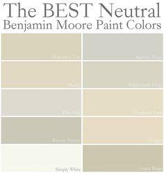 Warm Creamy Wall Colors Benjamin Moore Best Neutral