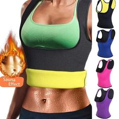 Miss Moly Hot Shapers Sauna Sweat Neoprene Body Shaper Women Slimming Thermo Push Up Vest Waist Trainer Cincher Corset *USPS* Sauna, Waist Trainer Vest, Sweat Belt, Neoprene, Lingerie, Waist Training, Waist Cincher, Slim Waist, Trends