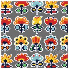 Another fun floral pattern by Helen Dardik at OneLuckyHelen.com.