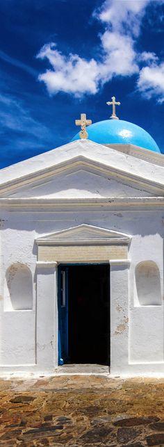 Church of Agios Nikolaos in the old port of Mykonos, Greece