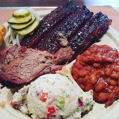 BBQ Heaven Love the Seasoning on the ribs! The Beef Brisket is just so soft. Brisket, Ribs, Steak, Heaven, Beef, Instagram Posts, Food, Meat, Sky