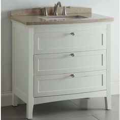 "allen + roth 36"" white windelton bath vanity with top"