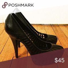 BCBG shoes Black stilettos; worn once BCBG Shoes Heels