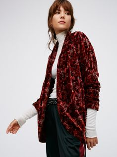 Printed Velvet Slouch Jacket at Free People Clothing Boutique