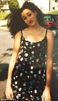 A teenage Meghan Markle