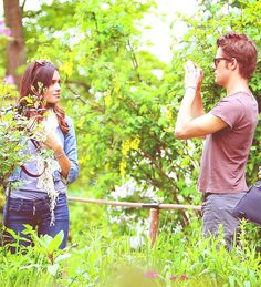 Paul Wesley and Torrey DeVitto.