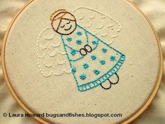 Bugs and Fishes by Lupin: Angel Embroidery Pattern