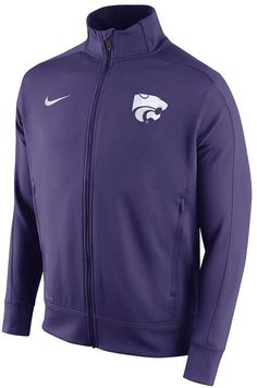 Add an extra layer of a team pride to your look with this Nike Kansas State Wildcats track jacket. PRODUCT FEATURES Zip front 2-pocket Long sleeves Polyester Machine wash Imported