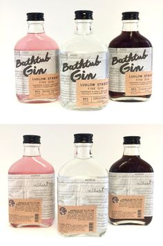 Ludlow Street Fine Gin - designer's inspiration came from grandfather who was arrested during prohibition for making gin in his Lower East Side tenement bathtub Beverage Packaging, Coffee Packaging, Bottle Packaging, Food Packaging, Bottle Labels, Brand Packaging, Chocolate Packaging, Design Packaging, Beer Labels