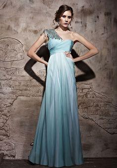 fba2788d6fa Light Green One Shouder Tencel Satin Formal Long Evening Dress Ball Gowns  Evening
