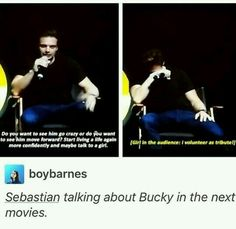You should have seen that coming dude.>> I mean, who wouldn't volunteer to be the girl that Bucky flirts with?