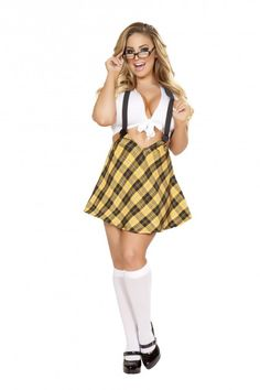 fcded03e1d60 Plus Size Tempting School Girl Costume