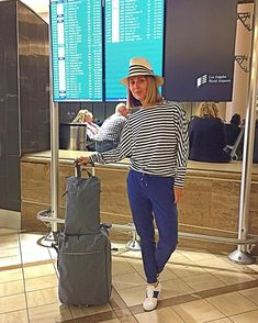 All Helly Hansened out  feeling posh but super comfy... love these uber stretchy pants  so much  W Thalia collection by @hellyhansen  #airportfashion #stripesfordays #nauticalstyle #fridayfeels