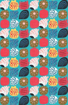 beach findings, coastal pattern by marco marella http://www.workbook.com/view/illustration/marco_marella