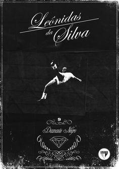 Nasce no Rio de Janeiro, Leônidas da Silva, um dos maiores ícones do Tricolor e do futebol mundial de todos os tempos. Art by elmorumbitemata.tumblr.com