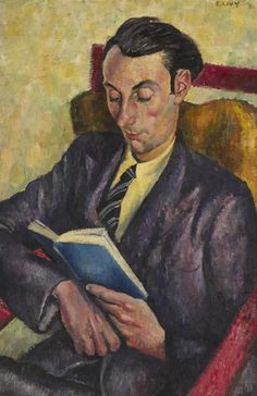 Emmanuel Levy (b.1949)   — Man Reading  (500×773)