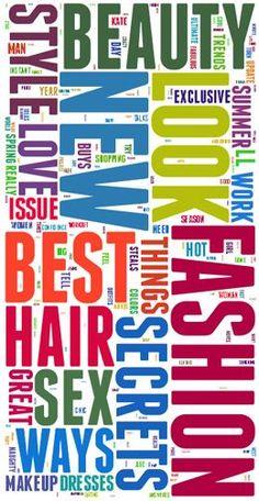 Headlines Packaging, Headlines Buzzword, Most Popular, Artheadlin Treatments, Magazines Headlines, 2011, Love Image Magazines Image, Fashion Magazines, ...