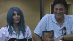 Victoria Paege and actor Richard Epcar at the 2012 Saboten Con