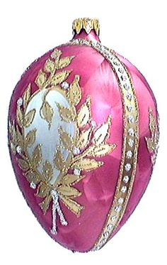 Museum Collection Fabergé Winter Palace Egg Glass Ornament