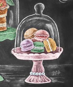 The colored version of the macarons I posted over the weekend! Now they don't…