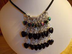 Gemstone heart fringe necklace £9.00