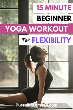 15 Minute Beginner Yoga Workout For Flexibility Increasing your flexibility helps to relieve body aches and improves posture. This beginner yoga workout for flexibility will improve your flexibility in no time! Pilates Workout, Beginner Yoga Workout, Pilates Reformer, Workout For Beginners, Pilates Yoga, Yoga Meditation, Yoga Flow, Yin Yoga, Kundalini Yoga