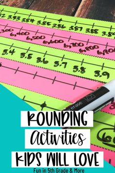 Rounding can be a tough skill for upper elementary students! Are you looking for some fun and engaging ways to teach rounding? Check out this post and find LOTS of ways to teach rounding! Check out these FREEBIES and help your kids learn rounding with these awesome tips, anchor charts and games! Everything you need to introduce rounding numbers to teaching to reviewing! Rounding Activities, Educational Activities, Activities For Kids, Hands On Learning, Fun Learning, Help Teaching, Teaching Math, Elementary Math, Upper Elementary