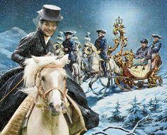 Munich et la Bavière, Louis II et Richard Wagner: Sisi et Ludwig en chevauchée hivernale Elisabeth, Ludwig, Sissi, Bavaria, Riding Helmets, King, Horses, Dolls, Hats