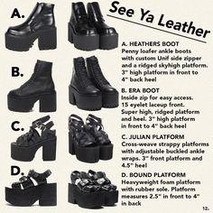 See Ya Leather #UNIF Boots A,B,C,D?