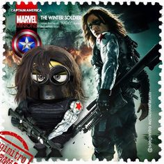 Captain America Minion Stamps ~ The Winter Soldier