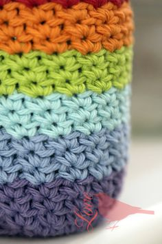 Ravelry: Crocheted Mason Jar Cover by Laura Maxell