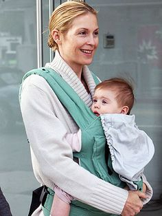 ZukaBaby loves Ergo as much as the stars do! Kelly Rutherford wearing an ERGO baby carrier