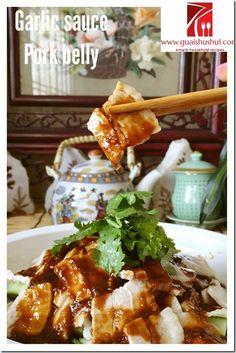 Garlic Sauce Pork Belly Pork Belly Roast, Pork Belly Slices, Pork Belly Recipes, Paste Recipe, Restaurant Dishes, Asian Recipes, Ethnic Recipes, Garlic Paste, Homemade Sauce