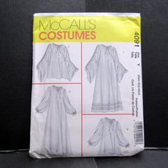 McCalls Costume Renaissance Underdress Chemise Cosplay Sewing Xsm Sm Med #McCalls