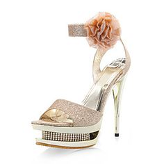 Sparkling Glitter Upper Stiletto Heel Pumps / Sandals With Rhinestone Wedding / Party Shoes Top Pump Heels Sparkly Wedding Shoes, Rhinestone Wedding, Stiletto Pumps, Pumps Heels, Cheap Womens Shoes, Beautiful High Heels, Sparkles Glitter, Kinds Of Shoes, Party Shoes
