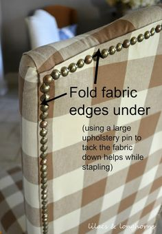 How to Reupholster a Dining Chair - www.lilacsandlonghorns.com