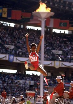 Jackie Joyner-Kersee - Three Gold Medals, Two Silver, Two Bronze - Top American Female Olympians - Photos - SI.com