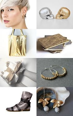 Silver & Gold - Click and click again on the picture for more related items, prices and details #alfamarama #etsy #etsytreasury #handmade #craft #designtrends #gifts #presents #christmas #xmas #christmaspresents #christmasgits #coolpresents #coolgifts #silver #gold #golden #shimmering #shinny #posh #bling #sophisticated #elegant #notebooks #metalic