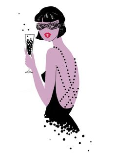 Black Caviar illustration by Neryl Walker. Taken from The Fashionable Cocktail Book.