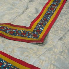 """The """"Light Grey"""" Kalamkari Silk Cotton Sari is embroidered with floral motifs all over the body that is set off by a multicolour handpainted floral motifs border and pallu. The Handpainted Kalamkari cotton blouse completes the sari. Cotton Textile, Leaf Art, Cotton Blouses, Floral Motif, Printed Cotton, Persian, Sari, Textiles, Hand Painted"""