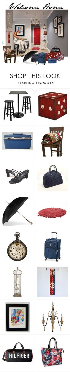 """Welcome Home"" by tol-n-tique on Polyvore featuring interior, interiors, interior design, home, home decor, interior decorating, Winsome, Samsonite, Alexander McQueen and Nodus"