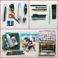 my favaorite must-have art journal supplies for air travel carry-on